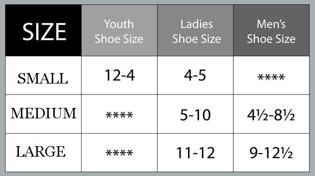 Size Guide Shoes Small Medium Large